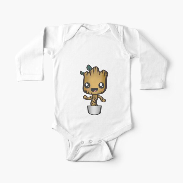 baby groot  Long Sleeve Baby One-Piece