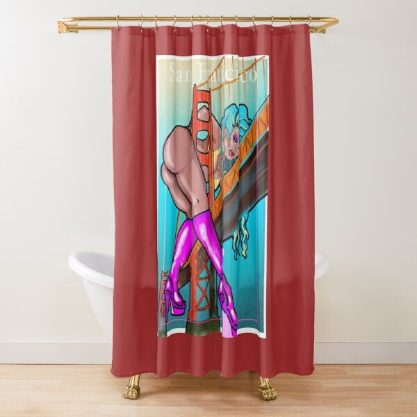 Heels in the city Shower Curtain