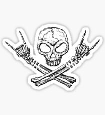 Skull Metal Sticker