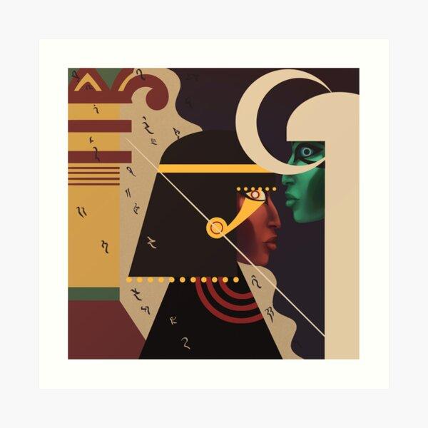 Golden Horus Osiris Art Print