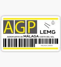 Destination Málaga Airport Sticker