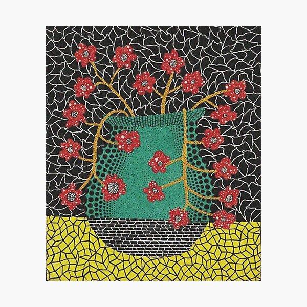 Yayoi Kusama flower vase painting Photographic Print