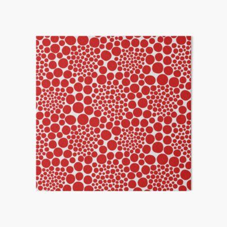 Yayoi Kusama polka dots red popular Art Board Print