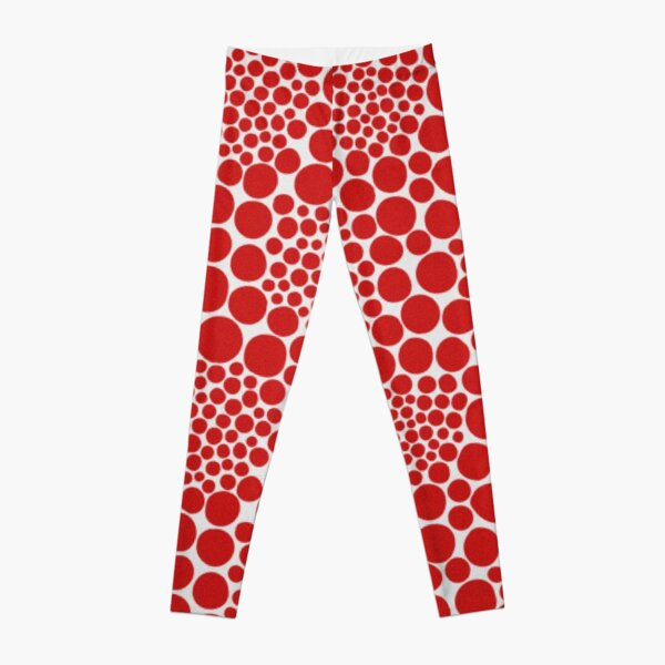 Yayoi Kusama polka dots red popular Leggings