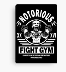 Conor Mcgregor Fight Gym Canvas Print