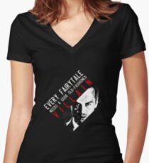 Every fairytale needs a good old-fashioned villain Women's Fitted V-Neck T-Shirt