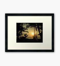 Idyllic sunset Framed Print