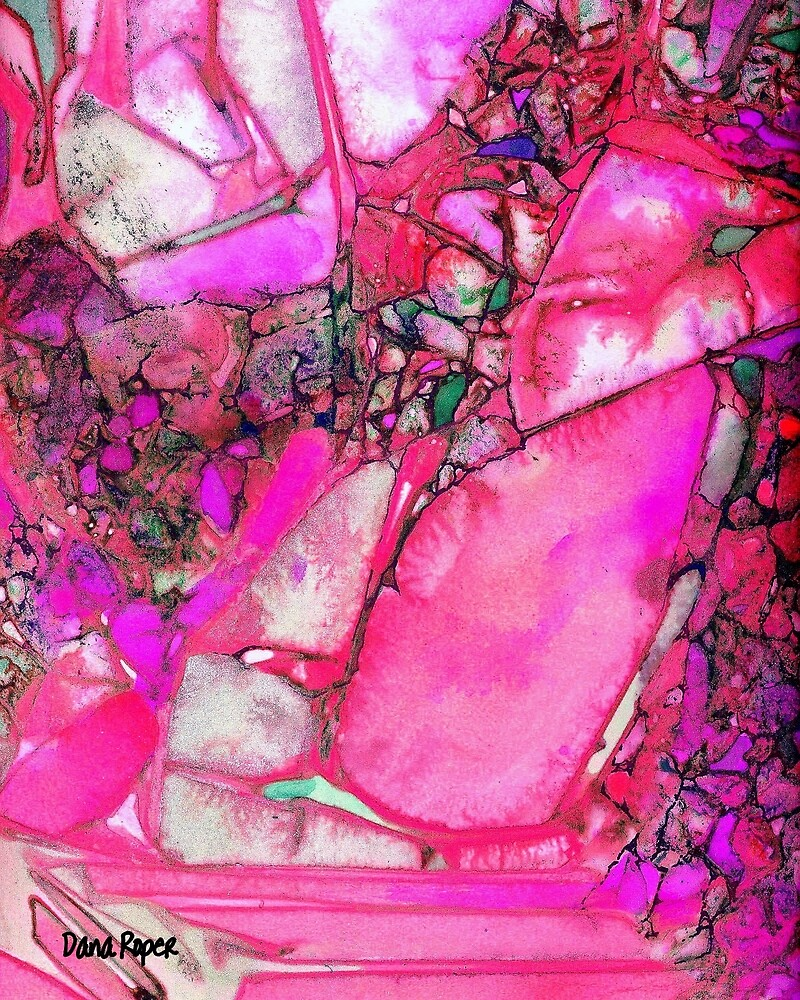 Pink Gems Detail by Dana Roper