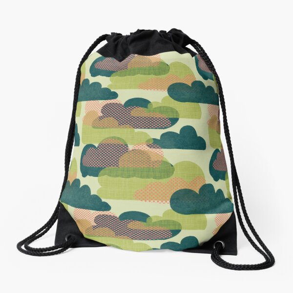Quirky Clouds Drawstring Bag