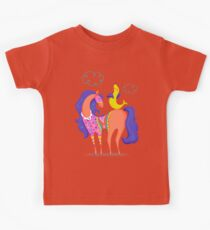 Circus Horse and Sealion, cute character illustration Kids Clothes