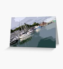 Padstow Harbour Greeting Card