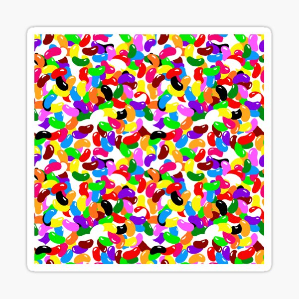 Jelly Bean Explosion Sticker
