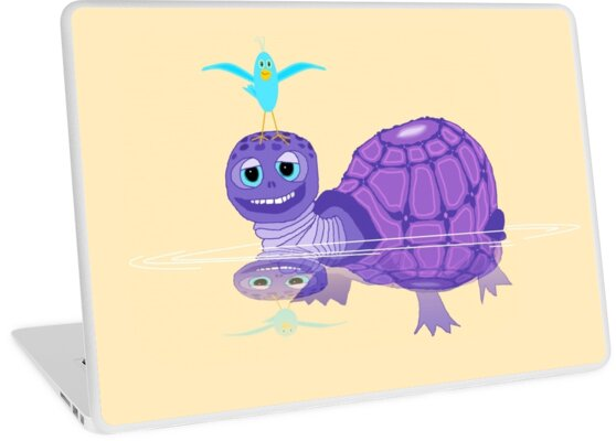 The Purple Turtle And A Bluebird Of Glee by Jean Gregory  Evans