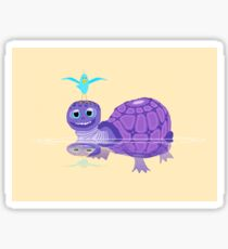 The Purple Turtle And A Bluebird Of Glee Sticker
