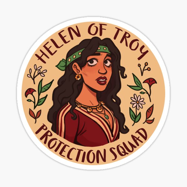 Helen of Troy Protection Squad Sticker