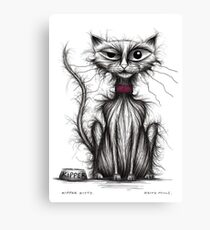 Kipper kitty Canvas Print
