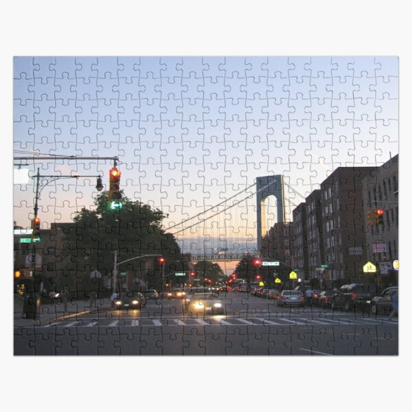 Bay Ridge, Verrazano-Narrows Bridge, Brooklyn, New York Jigsaw Puzzle