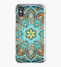 Flower Mandala in turquoise colors.  iPhone Case/Skin