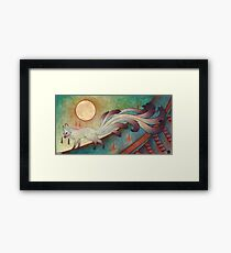 The Messenger - Kitsune, Fox, Yokai Framed Print