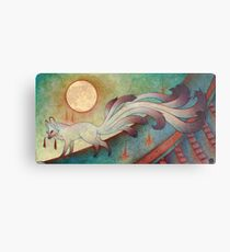 The Messenger - Kitsune, Fox, Yokai Metal Print
