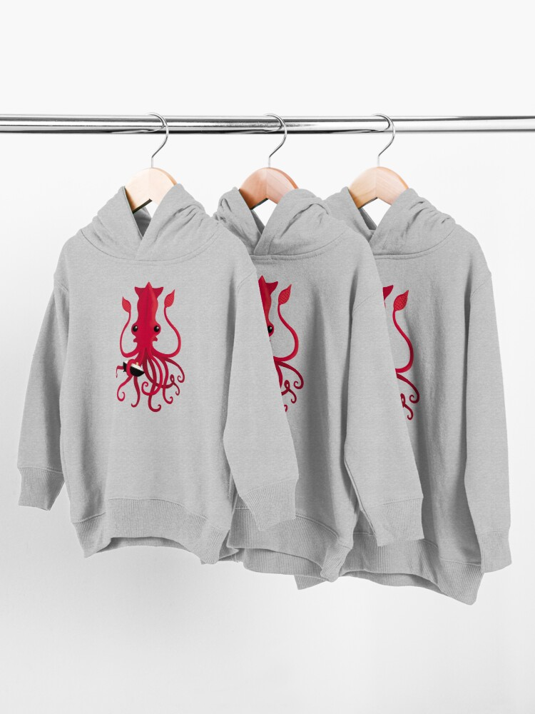 Alternate view of Kraken Attaken Toddler Pullover Hoodie