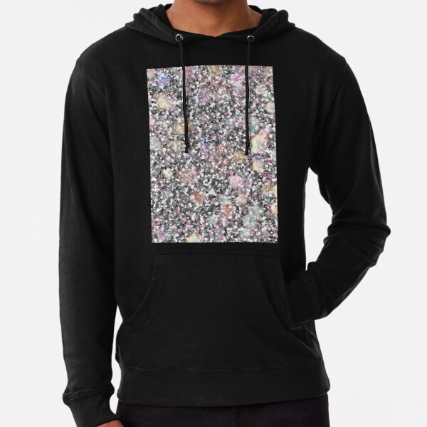 Silver and pink glitters Lightweight Hoodie