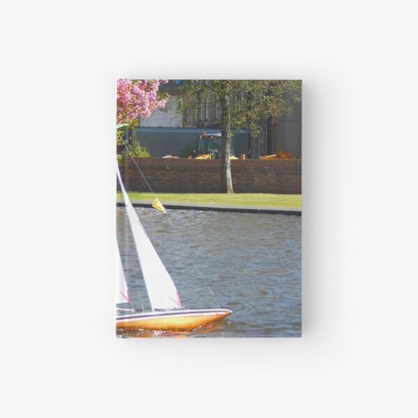 Boating at Aubery, Largs Hardcover Journal