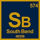 SOUTH BEND INDIANA Periodic Table Zip Code University Area Code by MyHandmadeSigns