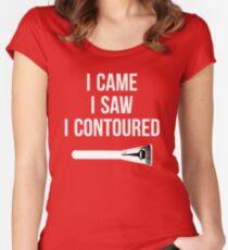 I Came i Saw i CONTOURED - Make up Artist Design brush Women's Fitted Scoop T-Shirt