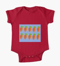 Oil Pastel carrots pattern One Piece - Short Sleeve