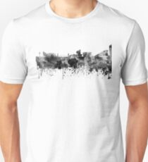 Manchester skyline in black watercolor T-Shirt
