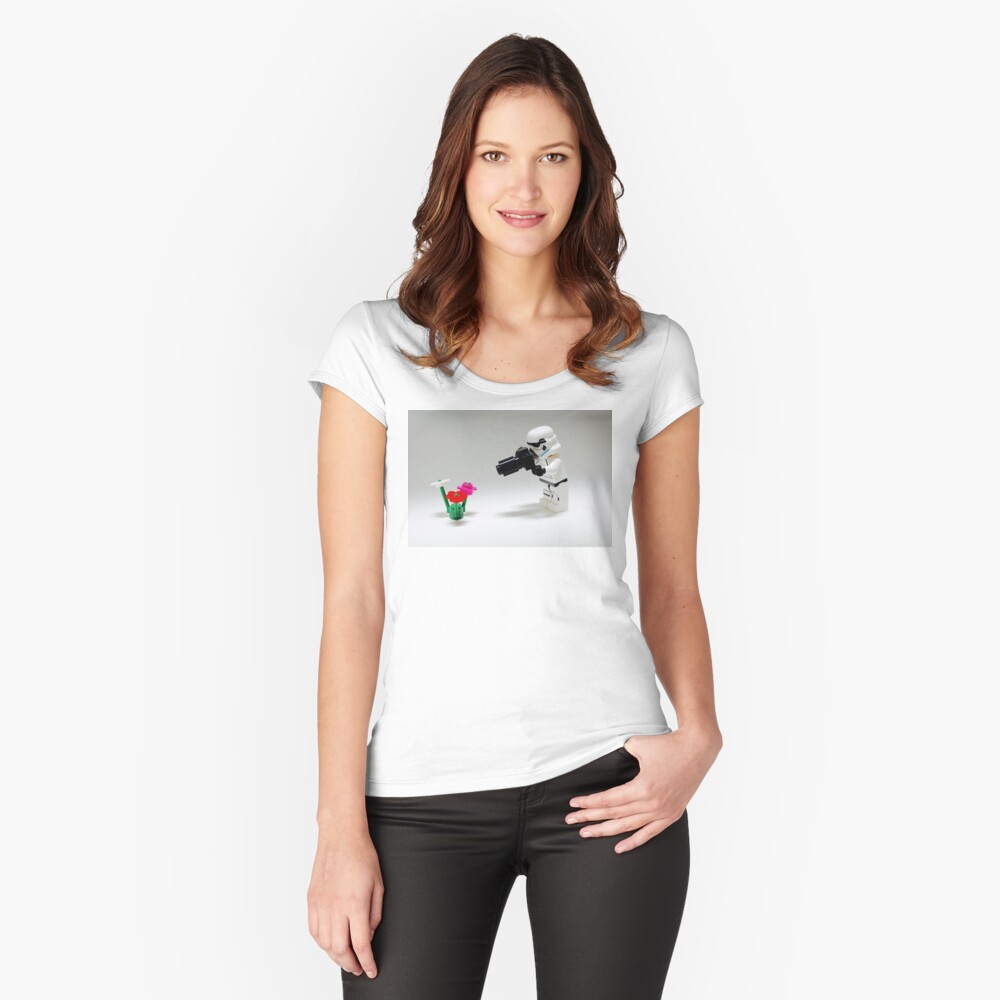 Storm Trooper Photographer Women's Fitted Scoop T-Shirt Front