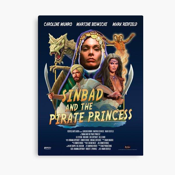 """Sinbad And The Pirate Princess"" Poster Art Canvas Print"