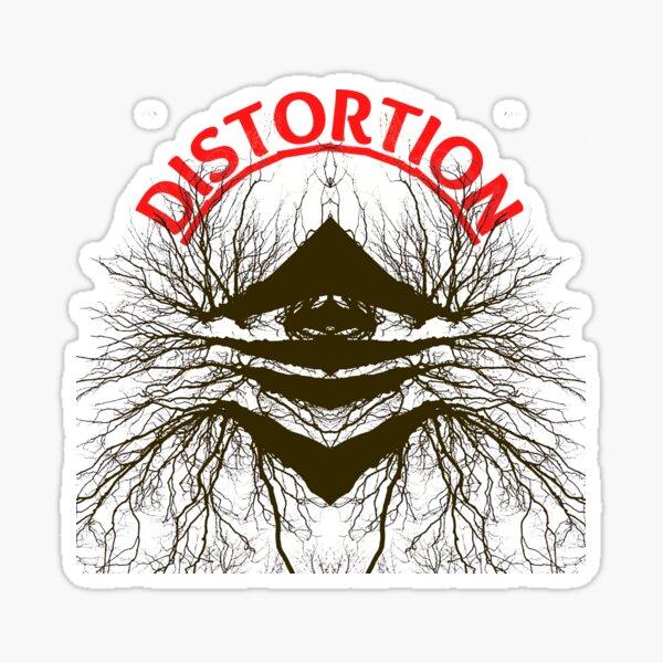 Distortion Pedal Amplified Music Punk Rock Metal Loud Glossy Sticker