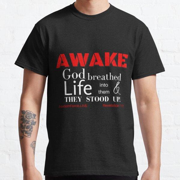 AWAKE - Bold Red & White Classic T-Shirt