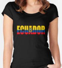Ecuador Flag Women's Fitted Scoop T-Shirt