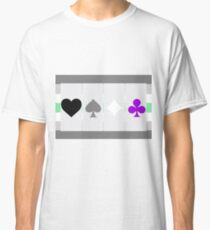 Ace symbols on Agender flag Classic T-Shirt