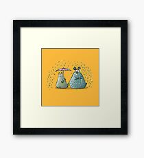 Rain - Cat and Dog Framed Print