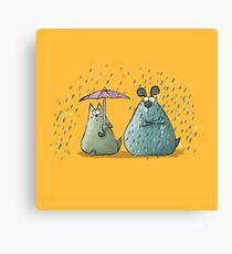 Rain - Cat and Dog Canvas Print