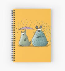 Rain - Cat and Dog Spiral Notebook