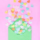 Love Letter Spreading Confetti by Barbara Neveu