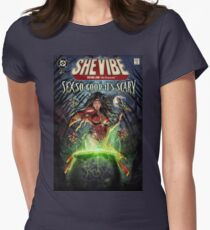 SheVibe Sliquid Cover Art Women's Fitted T-Shirt