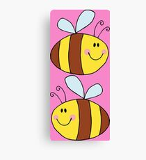 Cute Bumble Bee Drawing  Canvas Print
