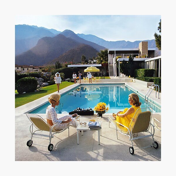 yellow slim poolside gossip Photographic Print