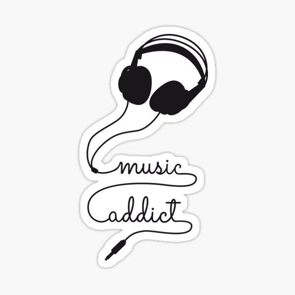 headphone music addict   Sticker