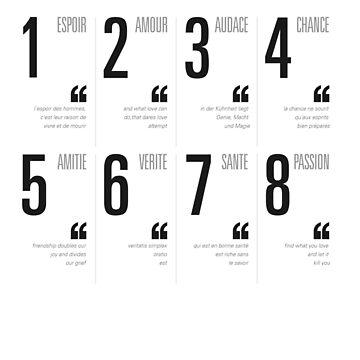 Bonheur - Typography by leroimacaque