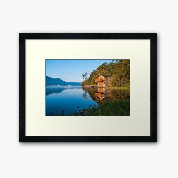 Ullswater Boathouse Framed Art Print
