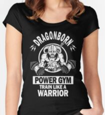 Dragonborn Power Gym Women's Fitted Scoop T-Shirt