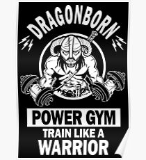 Dragonborn Power Gym Poster