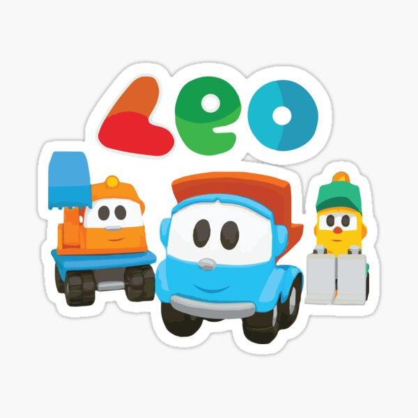 leo the truck, lifty and scoop  Sticker